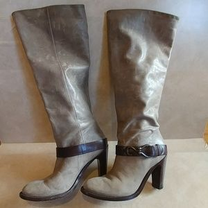 COLE HAAN HEEL SOFT LEATHER KNEE BOOTS SIZE 9 B